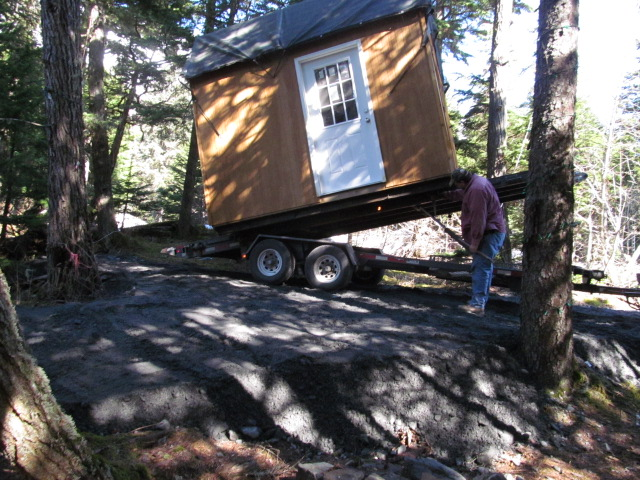 A new shed at Ken's Girdwood property